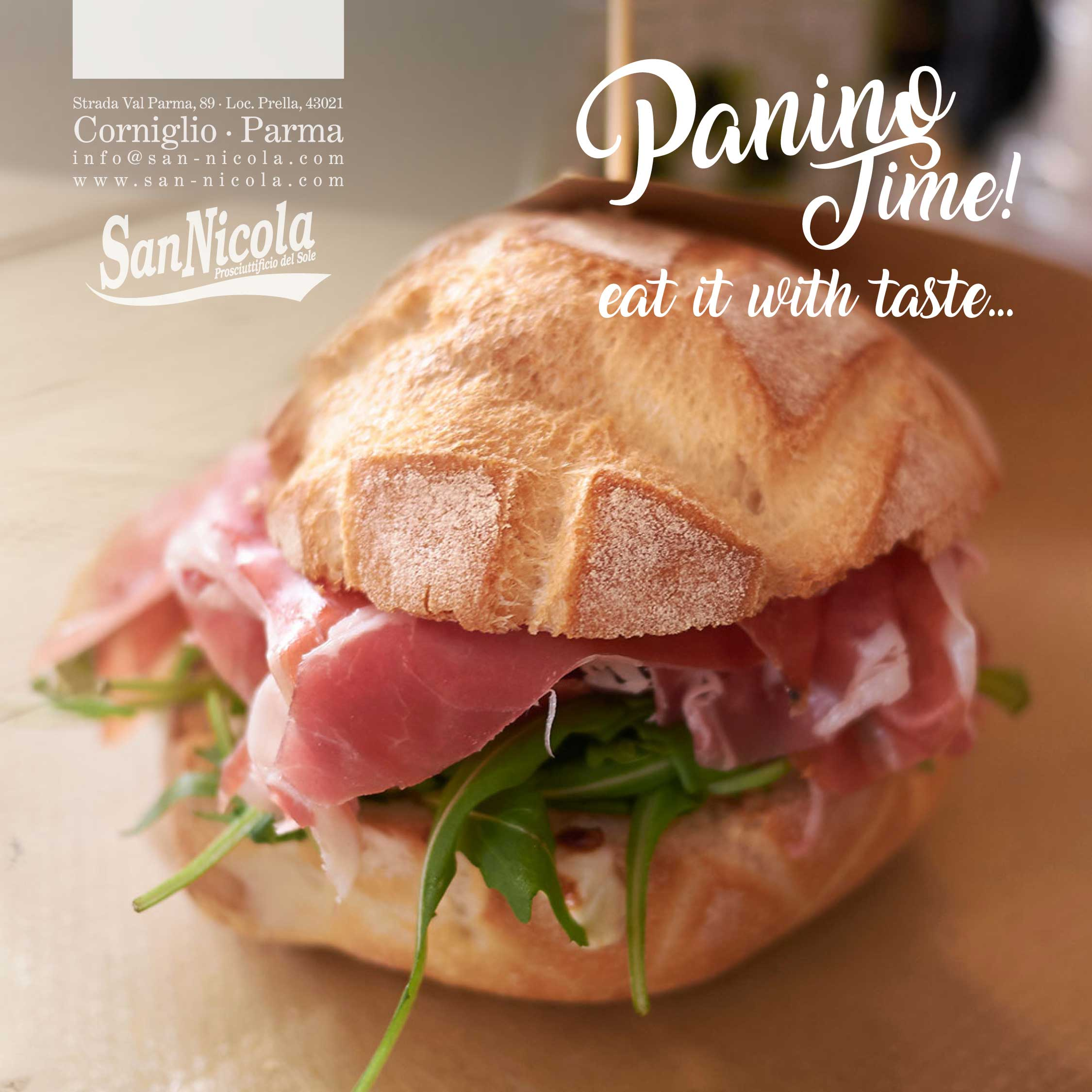 Panino time with Prosciutto San Nicola