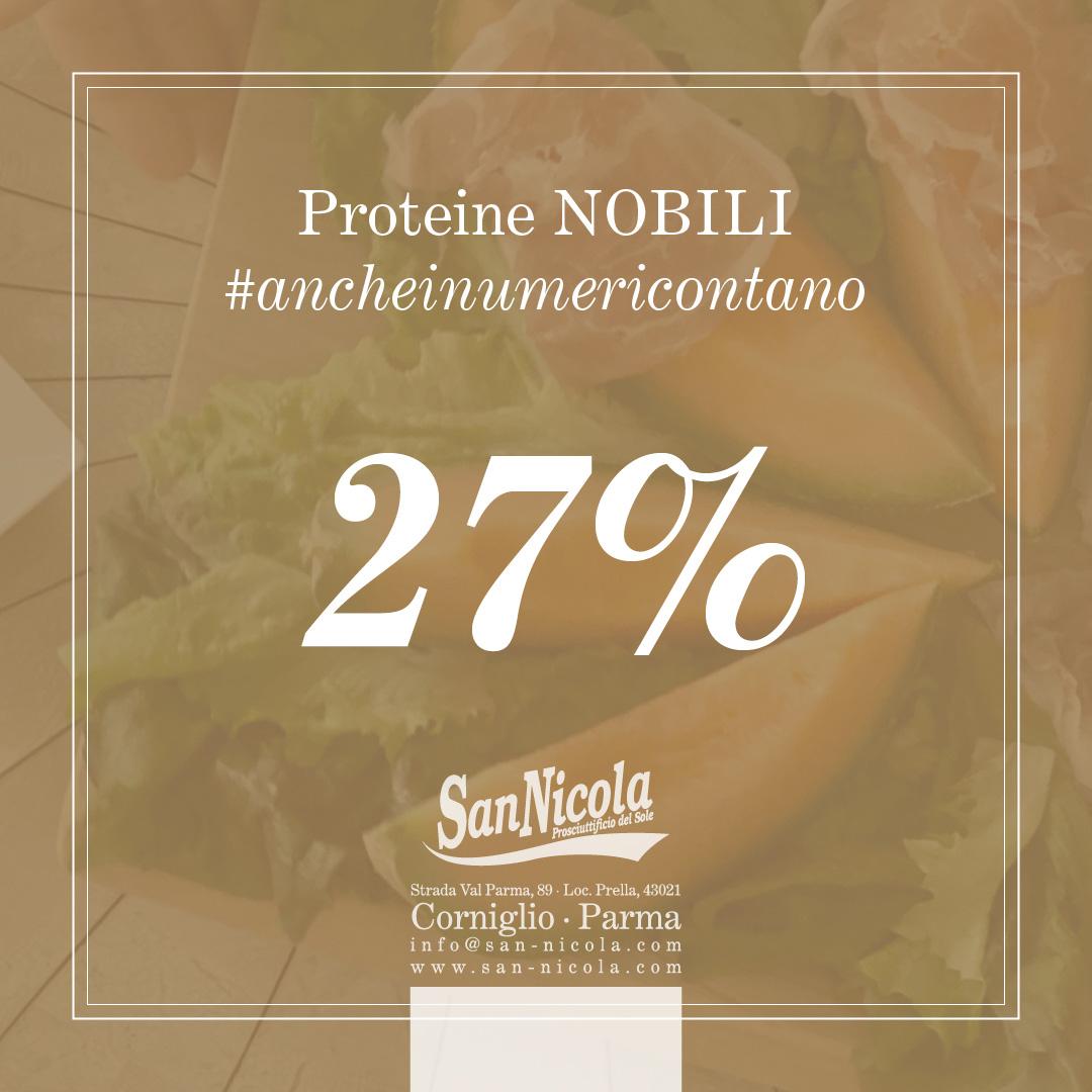 Anche i numeri contano! Proteine Nobili del Prosciutto San Nicola